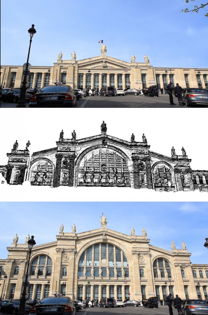 collage gare du nord fin