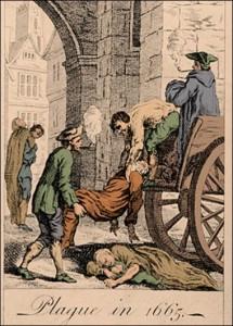 Grande Peste de Londres 1665 (Auteur inconnu, domaine Public)