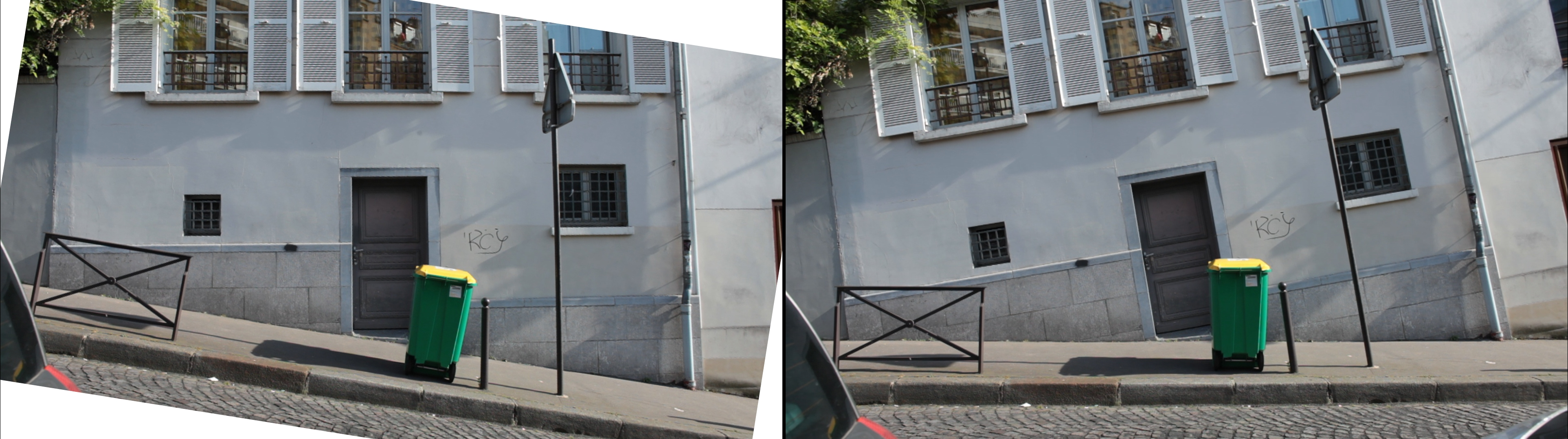 déclivité rue ravignan 75018 paris